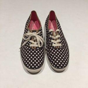 Keds Brown and White Polka Dot Size 9